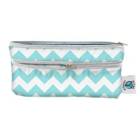 Travel Wet/Dry Bag - Aqua Chevron