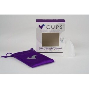 V-Cup Menstrual Cup - Frosted Clear